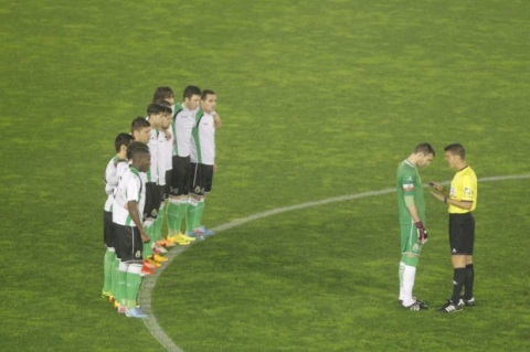 Racing-Santander-Players-Protest